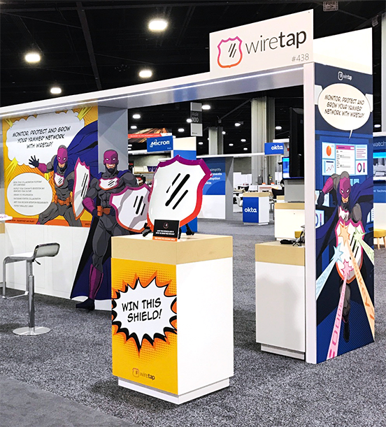 Wiretap Tradeshow Booth